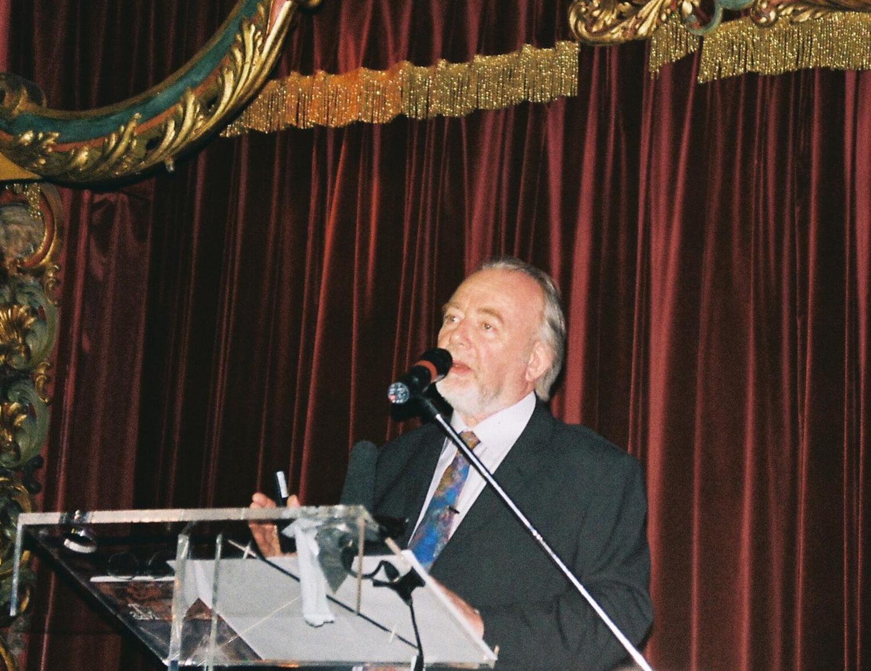 Paul Devereux delivering a lecture